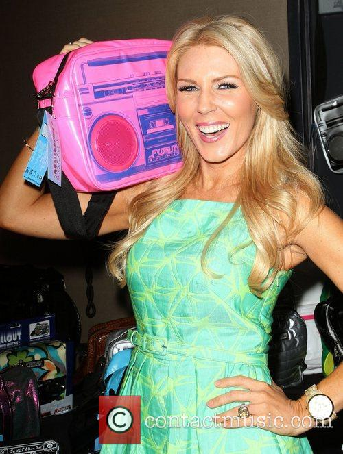 Gretchen Rossi 102.7 KIIS-FM host gifting lounge in...