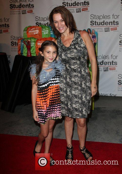 Rowan Blanchard with Mother Elisabeth DoSomething.org and Staples...