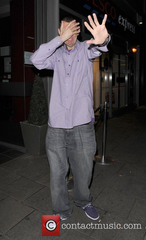 Tim Westwood appears embarrassed to be photographed Television...