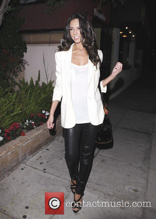 Terri Seymour leaving Matsuhisa restaurant Beverly Hills, California