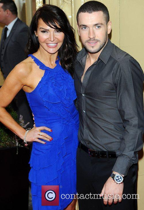 Lizzie Cundy and Shayne Ward at the Tesco...