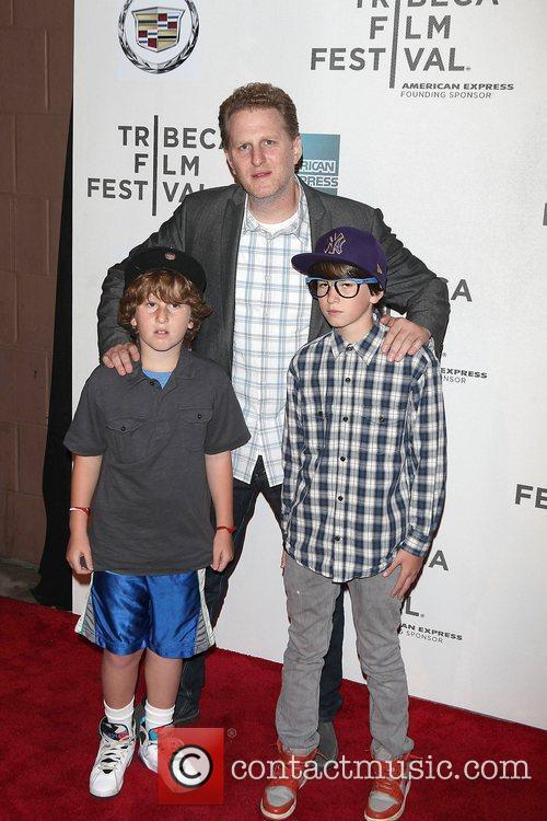 Actor Michael Rapaport (C) with kids Julian and...