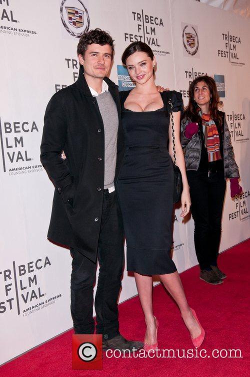 Miranda Kerr, Orlando Bloom 2011 Tribeca Film Festival...