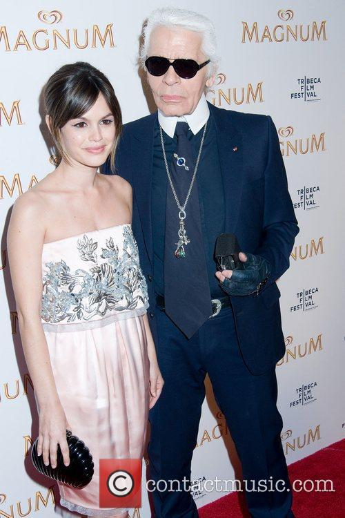 Rachel Bilson and Karl Lagerfeld 1