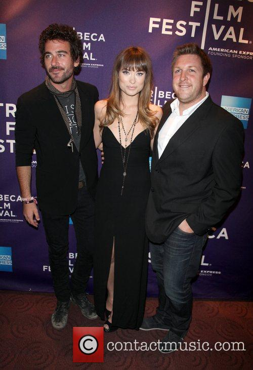 Bryn Mooser, Olivia Wilde and David Darg 2011...