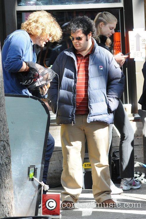 Josh Gad  on the set of 'Thanks...