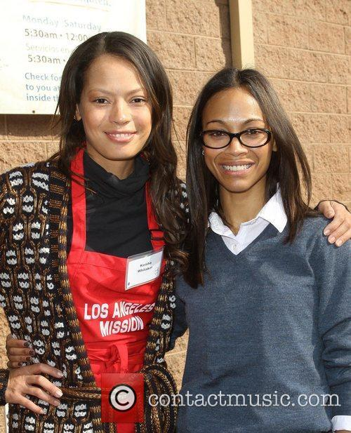 Keisha Whitaker and Zoe Saldana 4