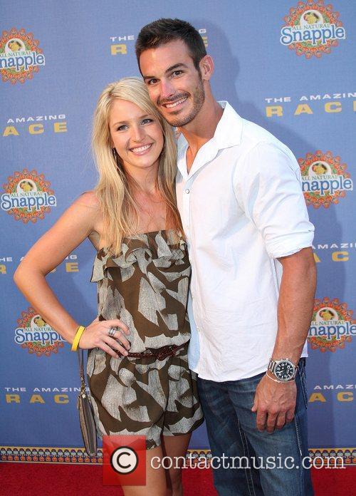 Amanda Blackledge and Kris Klicka arrive at The...