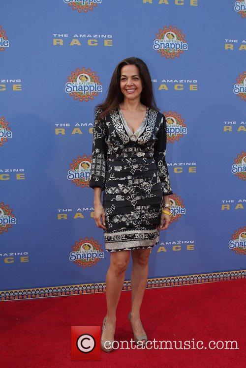 Elisa Doganieri arrives at The Amazing Race: 10...