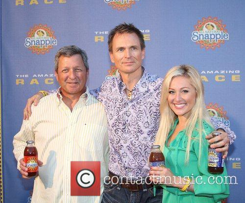 Gary Ervin, Phil Keoghan and Mallory Ervin arrive...