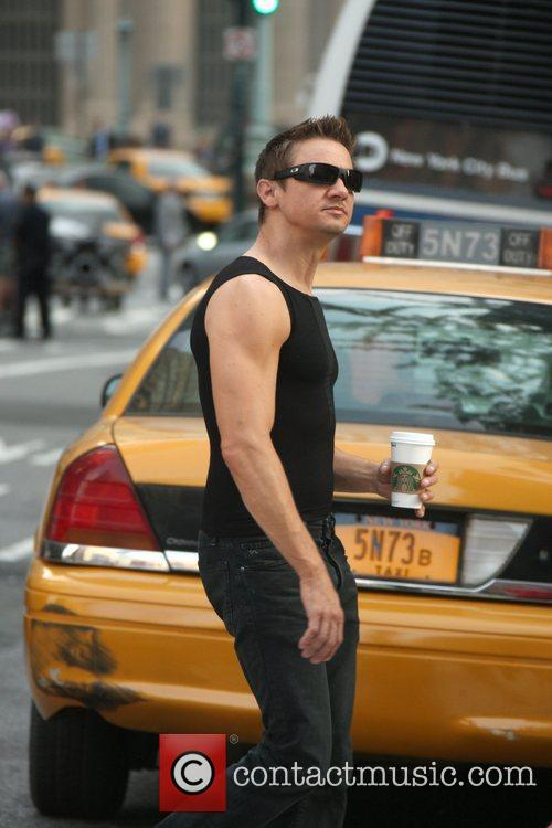 Jeremy Renner on the film set of 'The...