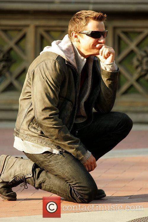 Jeremy Renner actors on the set of 'The...