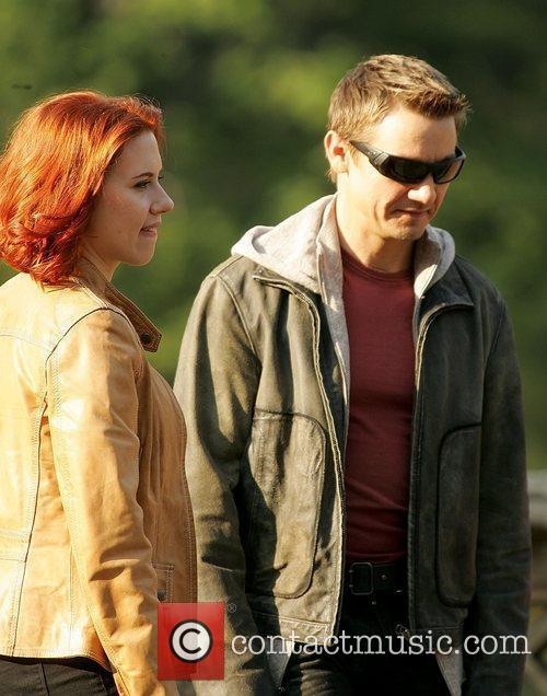 Scarlett Johansson and Jeremy Renner actors on the...