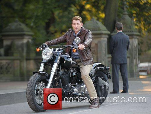 Chris Evans  on the set of 'The...