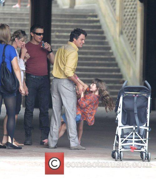 Jeremy Renner alongside Mark Ruffalo, his wife Sunrise...