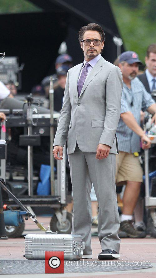 Robert Downey Jr.  on the set of...