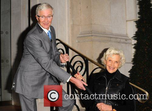 Paul O'Grady and Honor Blackman  attend the...