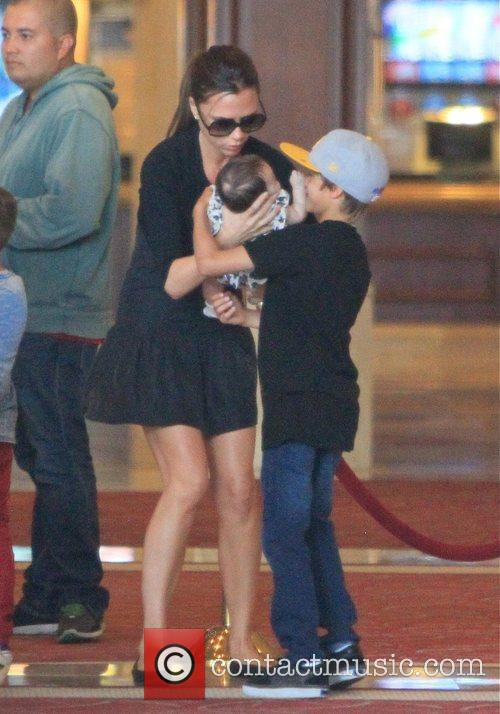Victoria Beckham and her four children including Brooklyn,...