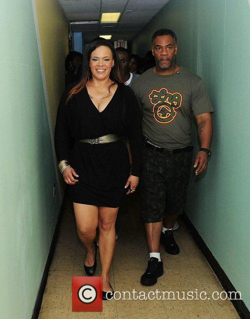 faith evans and guest backstage during best 3597129