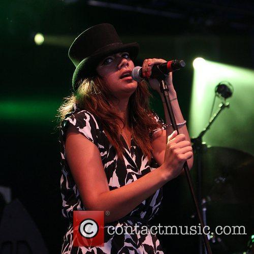 Karoline Tamati of Ladi6  performing on the...