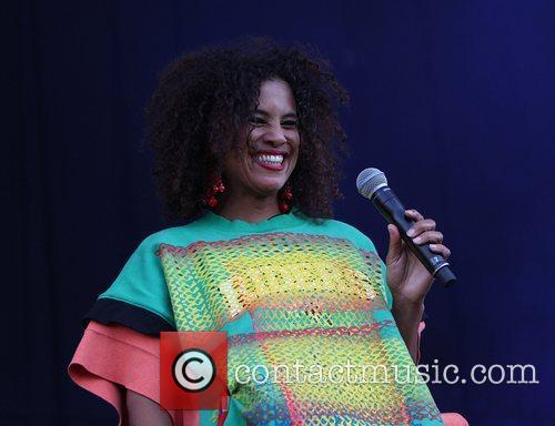 Neneh Cherry performing on the Deer Park Stage...