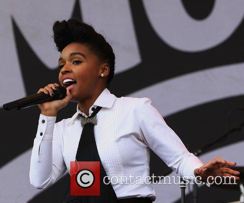 Janelle Monae performing on the Deer Park Stage...