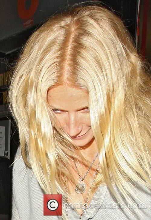 Gwyneth Paltrow leaves The Box Nightclub after watching...