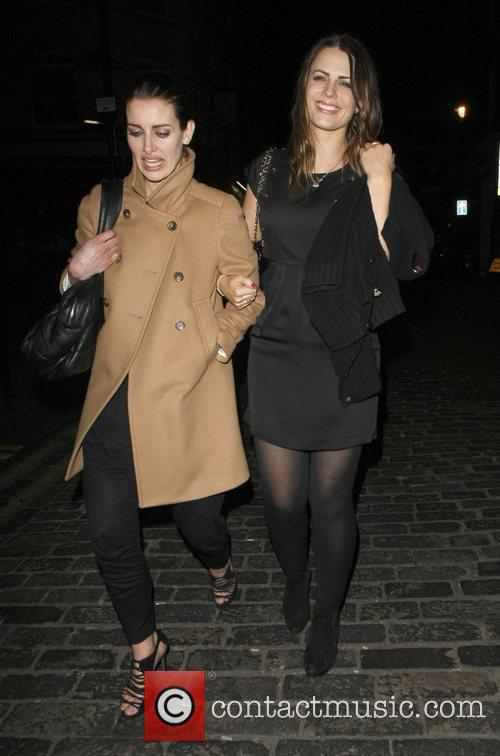 Kirsty Gallacher and Susie Amy leave The Box...