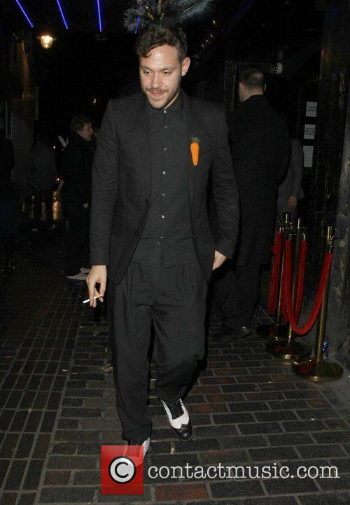 Will Young leaves The Box Club in Soho...