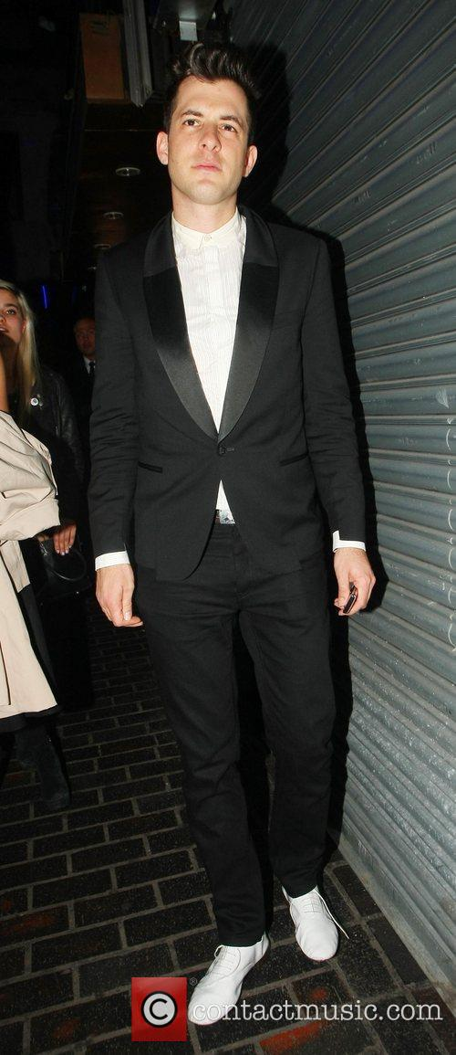 Mark Ronson leaves The Box Club in Soho...