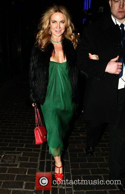 Meg Mathews leaves The Box Club in Soho...