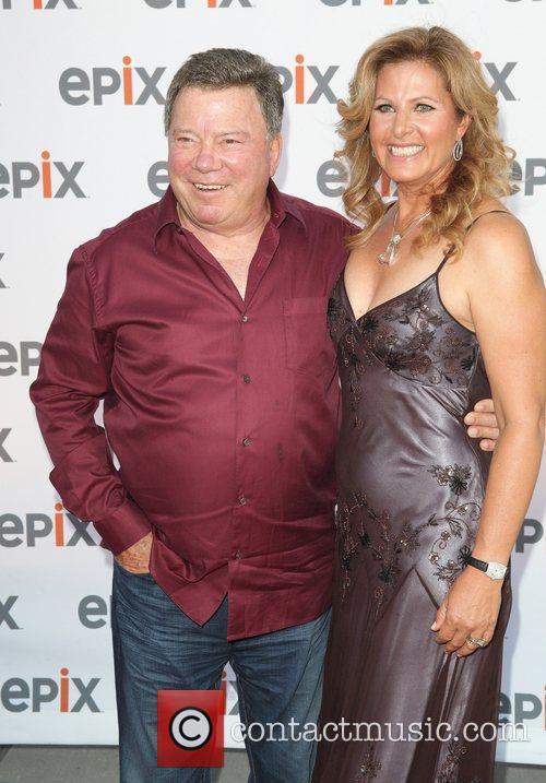 William Shatner with his wife Elizabeth Anderson Martin...