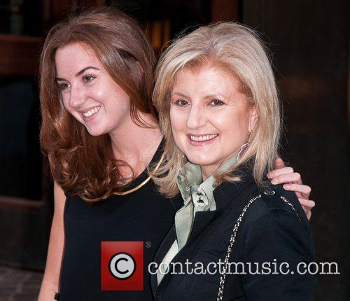 Arianna Huffington and daughter Christine Huffington Screening of...