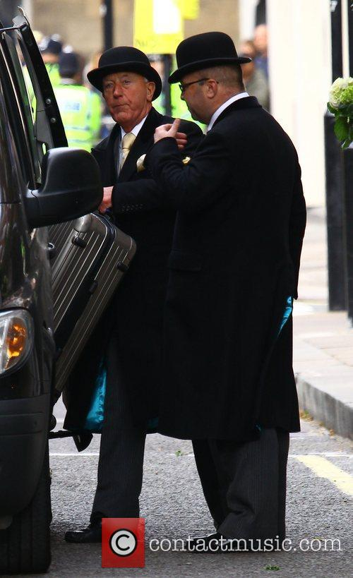 Scenes outside The Goring Hotel ahead of the...