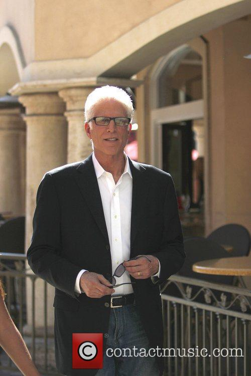 Ted Danson at The Grove to film an...