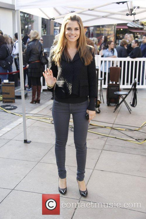 Maria Manounos at The Grove to record a...