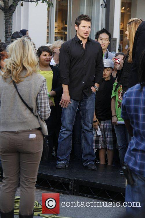 Nick Lachey at The Grove to film an...