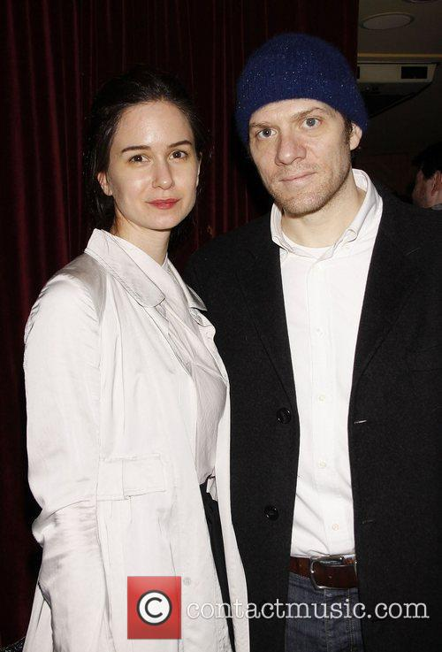 Katherine Waterston and Adam Rapp Opening night after...