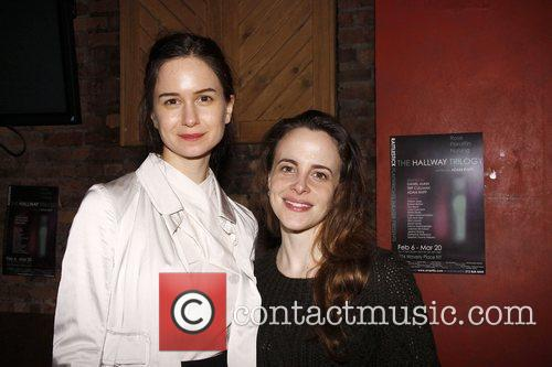 Katherine Waterston and Maria Dizzia Opening night after...