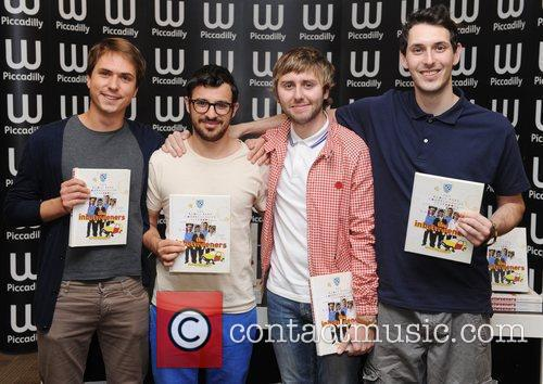 James Buckley, Blake Harrison, Joe Thomas, Simon Bird and Waterstone's In Piccadilly 4