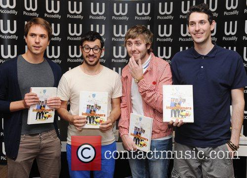 James Buckley, Blake Harrison, Joe Thomas, Simon Bird and Waterstone's In Piccadilly 2