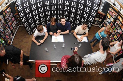 Joe Thomas, Blake Harrison, James Buckley, Simon Bird and Waterstone's In Piccadilly 3