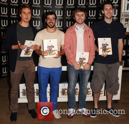 Joe Thomas, Blake Harrison, James Buckley, Simon Bird and Waterstone's In Piccadilly 1