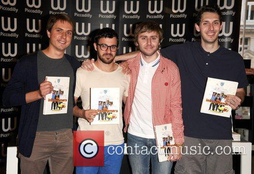 Joe Thomas, Blake Harrison, James Buckley, Simon Bird and Waterstone's In Piccadilly 8