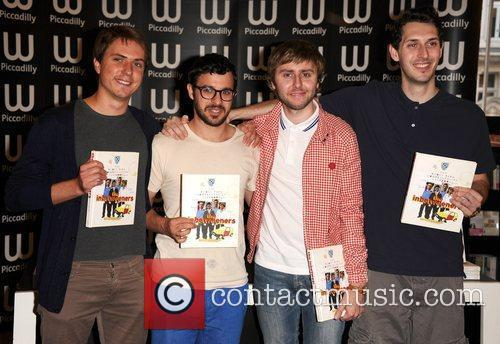 Joe Thomas, Blake Harrison, James Buckley, Simon Bird and Waterstone's In Piccadilly 9