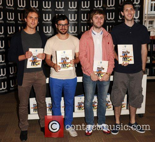 Joe Thomas, Blake Harrison, James Buckley, Simon Bird and Waterstone's In Piccadilly 5