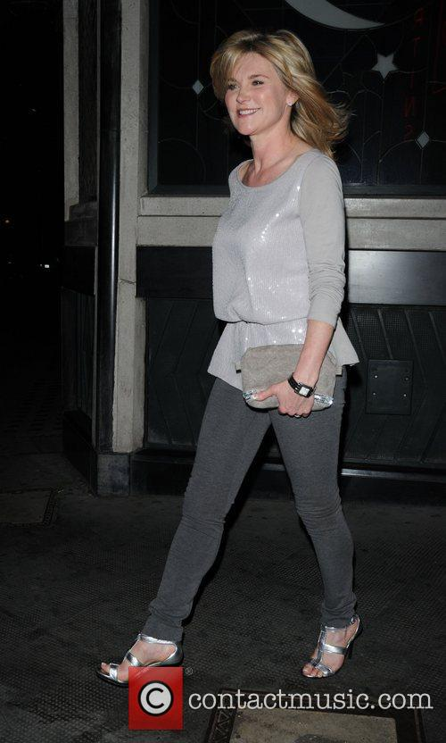 Anthea Turner outside the Ivy restaurant after having...