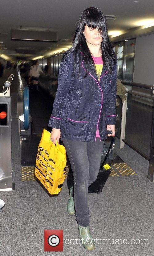 Alison Mosshart The Kills arrive at Narita International...
