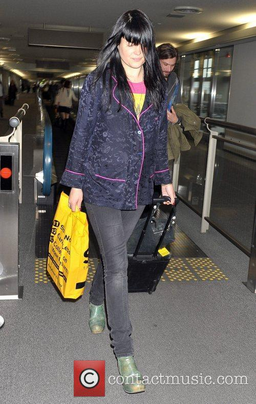 The Kills arrive at Narita International Airport to...