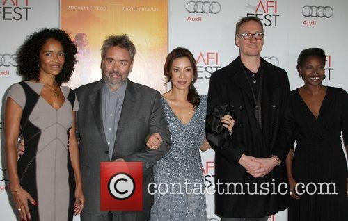 Luc Besson, David Thewlis, Michelle Yeoh and Grauman's Chinese Theatre 1